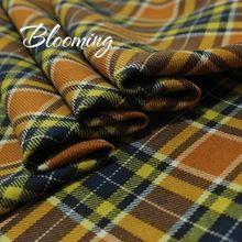 Gratis verzending! hoge kwaliteit wol stof, preppy stijl. klassieke schotland rok stof, geel plaid materiaal, stof voor jurk.(China (Mainland))