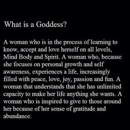 What is a Goddess?