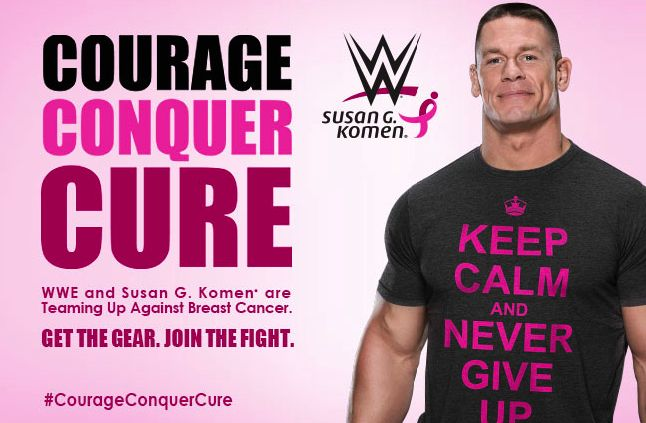Get the #CourageConquerCure merch to support Susan G. Komen's mission of ending breast cancer. #WWE