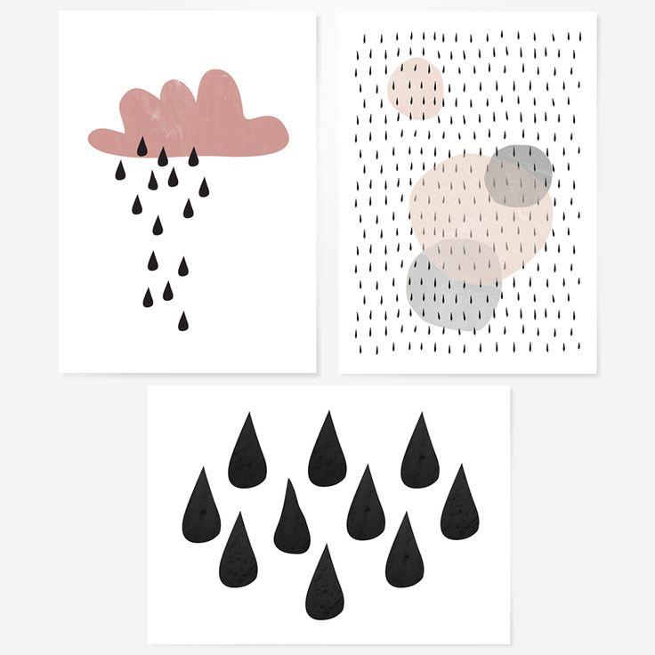 Rain Me Happy set of 3 cards   Floor Number Four.