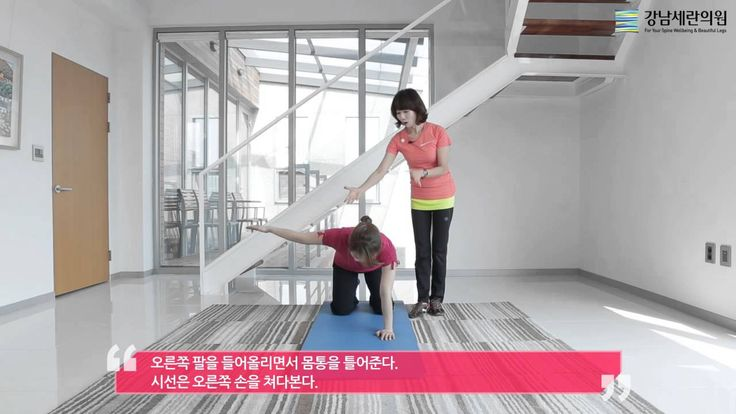 [강남세란의원] 척추측만증 교정 운동 - 몸통 회전운동. 측만증에서 날개뼈의 위치가 중요. 틀어지고 돌아가고 튀어나온 부분을 개선하기 위한 운동입니다.