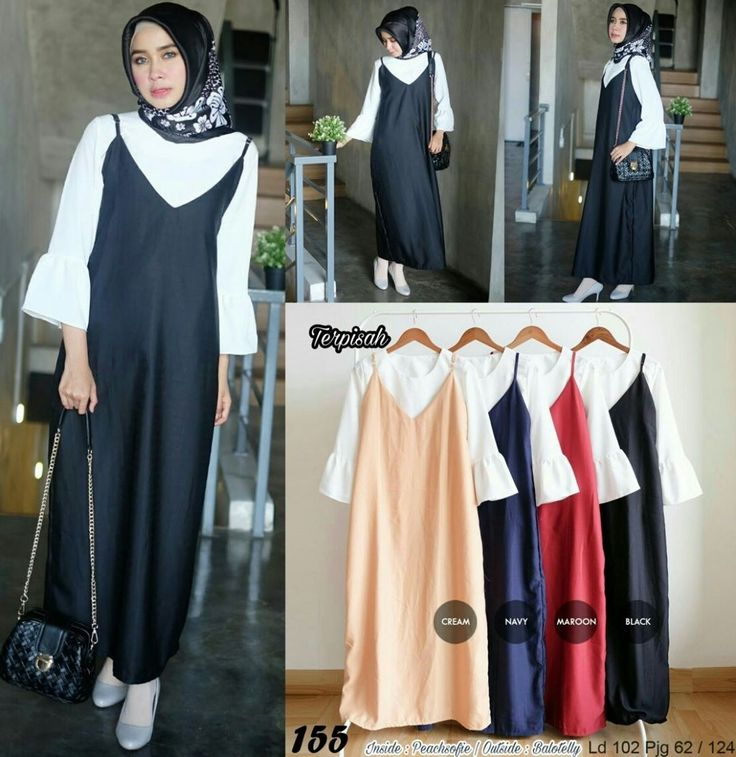 Ready a155 @90 rb  bahan inside peach sofie, outside ballotely  seri 4warna  ld 102 cm  pjg 62-124  ㅤ  Contact us for more detail  line: @ konveksi.hijab (pakai tanda @ yah)  WA: 0858 8533 3907   store location: PGMTA lantai LG blok B no.176  ㅤ  #jualankaka #jualanbro #jualanonline #jualhijabmurah #jualatasan #kemejatunic #olshopindonesia #style #fashion #jualhijabmurah #hijabmodern #hijabersindonesia #instahijab