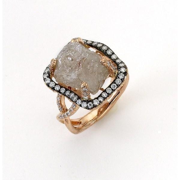 rough diamond ring unique engagement ring idea - Exotic Wedding Rings