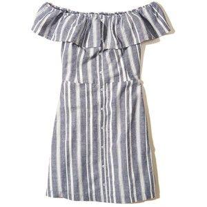 Hollister Ruffle Off-The-Shoulder Woven Dress