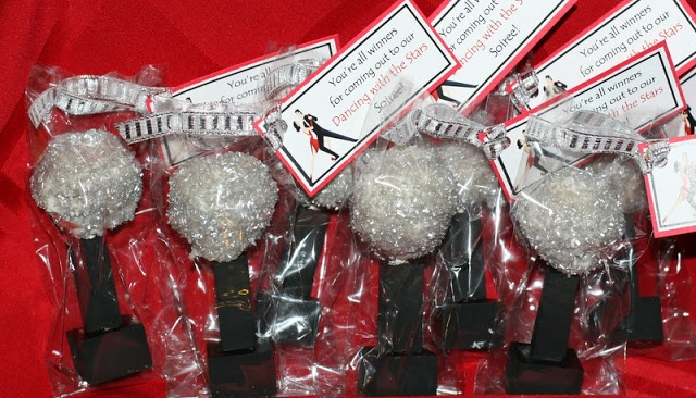 Dancing with the Stars party favors - mirror ball cake balls!