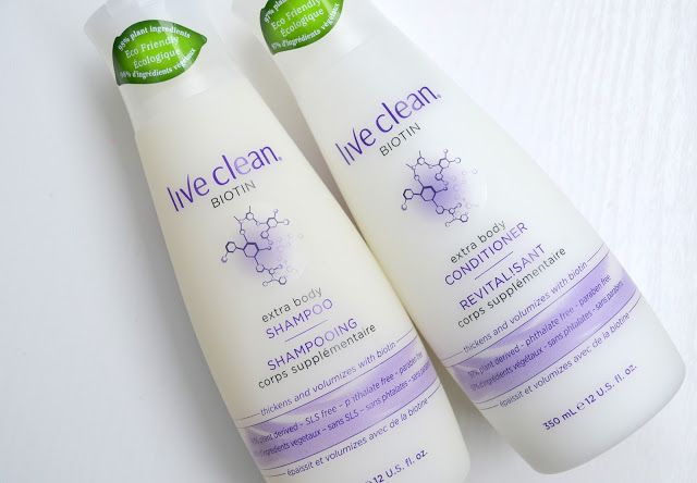 Live Clean Biotin Extra Body Shampoo and Conditioner