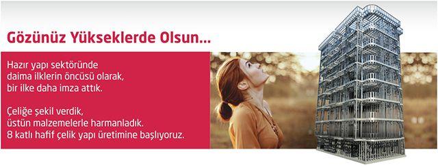 8 Katlı Hafif Çelik Yapı http://www.prefabrikyapi.com/