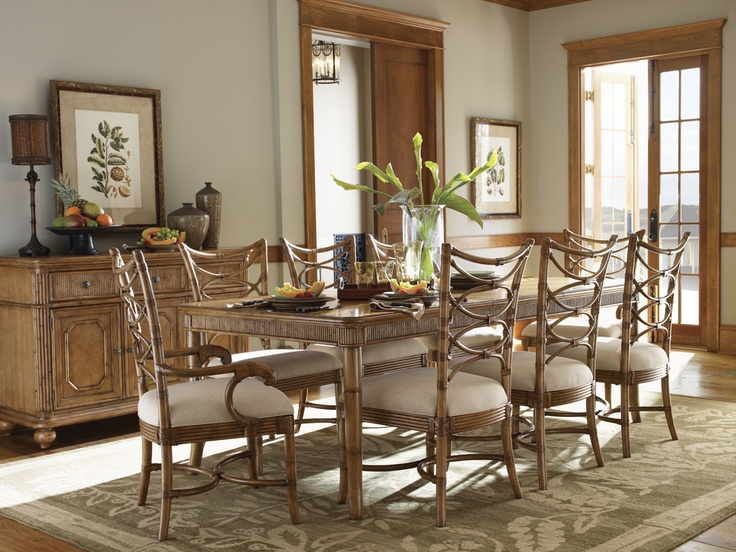 Tommy Bahama By Lexington Home Brands Beach House 9 Piece Boca Grande Dining  Set   Coastal Design Elements And Caribbean Styling Come Together In The  Tommy ...