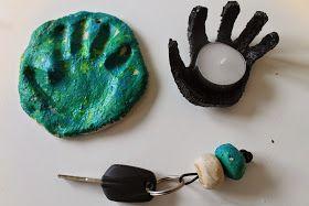 Legefanten: Hjemmelavede gaver: Håndaftryk, nøglering og skål af trylledej