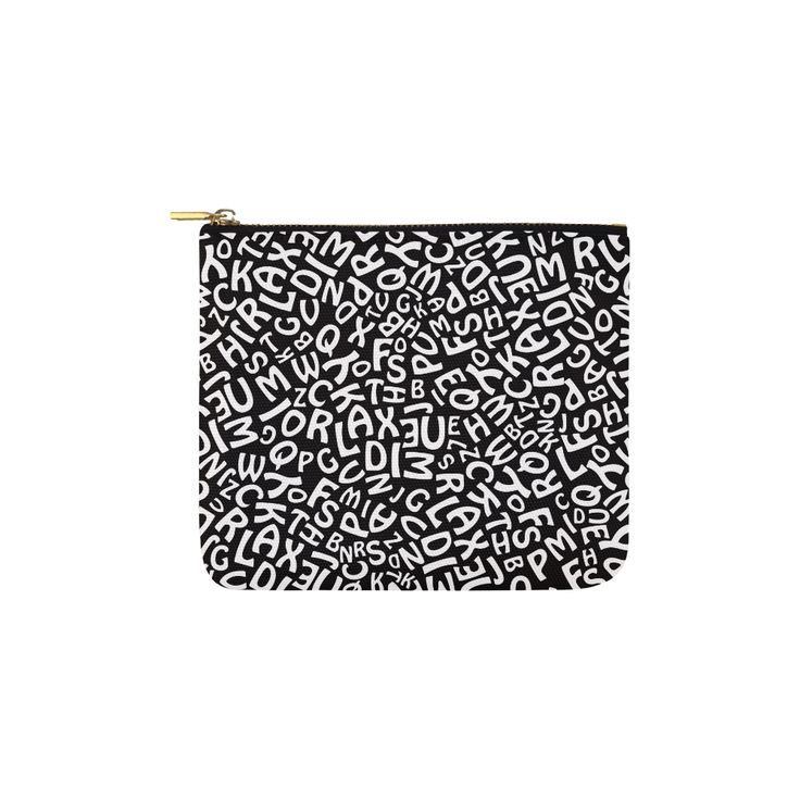 Alphabet Black and White Letters Carry-All Pouch 6