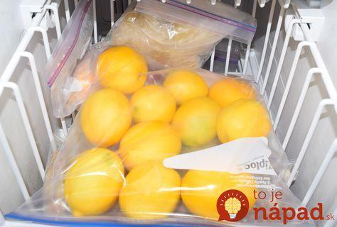 Prečítajte si dôvod, pre ktorý by mali citróny rozhodne skončiť v mrazničke.