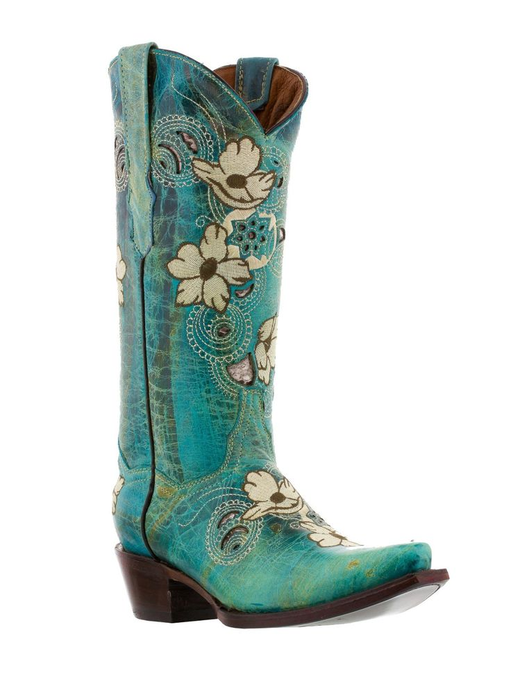 Cowboy Boots Women's Turquoise Cowboy Boots Snip Toe