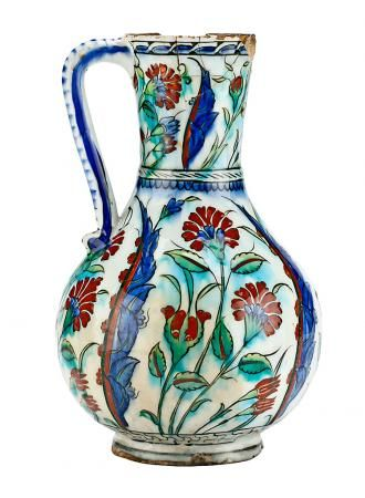 A turkish jar in enamel ceramic of Iznik, late 16th Century. | Balclis Barcelona  www.balclis.com
