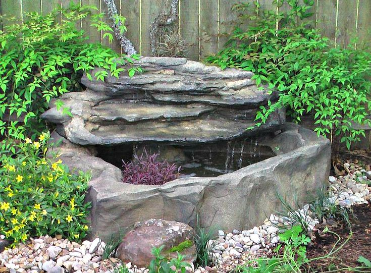 Beautiful Patio Pond Waterfalls by Garden Gnomes Etc