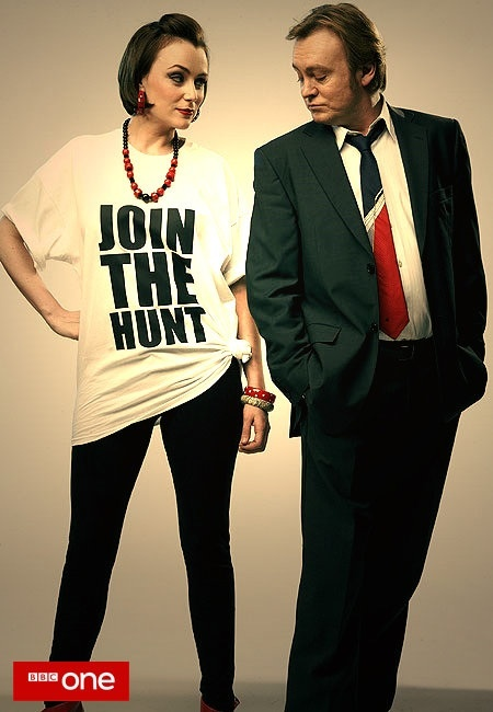 Promo poster featuring Alex Drake and Gene Hunt (Ashes to Ashes)