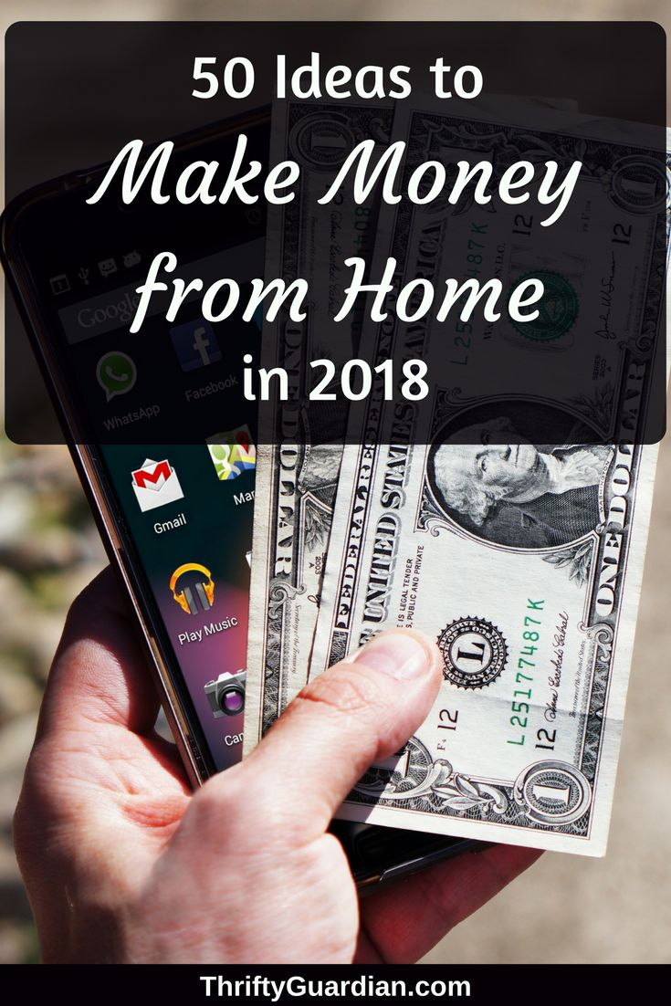 Make money from home in 2018! 50 ideas from Amber Temerity on how to make money online and mostly from the comfort of your own home.  #wahm #workfromhome #makemoneyonline #ibotta #ebates via @AmberTemerity
