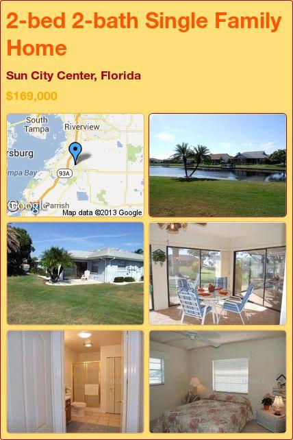 2-bed 2-bath Single Family Home in Sun City Center, Florida ►$169,000 #PropertyForSale #RealEstate #Florida http://florida-magic.com/properties/9330-single-family-home-for-sale-in-sun-city-center-florida-with-2-bedroom-2-bathroom