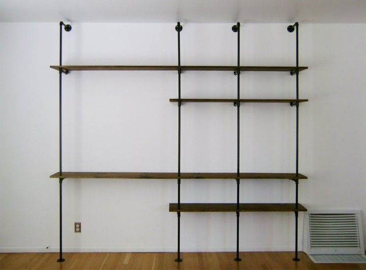 pipe shelving at the Brick House would be perfect in the Kitchenette
