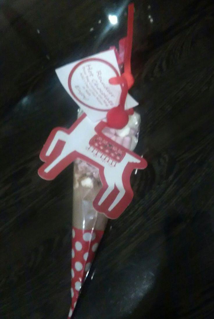 Reindeer hot chocolate pack diy