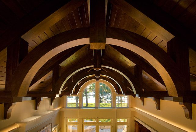 1000 ideas about beam ceilings on pinterest beamed for Arched ceiling beams