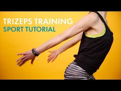 Fitness für die Oberarme » Sport Tutorial » Trizeps-Training | Sporty STYLIGHT - YouTube