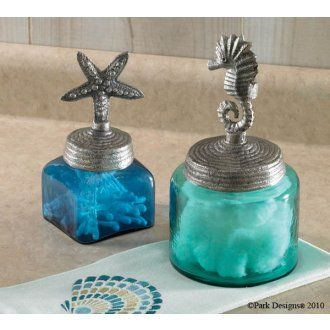 Starfish and Sea Horse Glass JarsPerfect accent to a beach themed bathroom. 1000  ideas about Seahorse Decor on Pinterest   Coastal decor