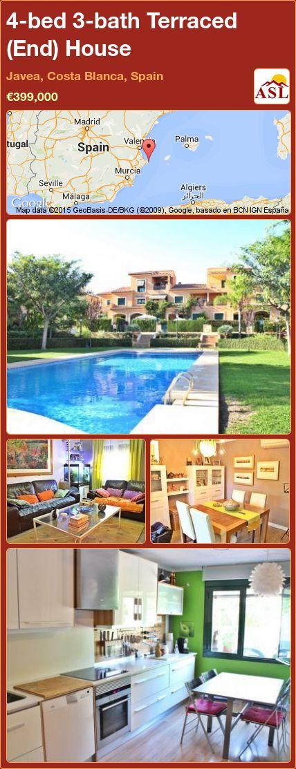 4-bed 3-bath Terraced (End) House in Javea, Costa Blanca, Spain ►€399,000 #PropertyForSaleInSpain