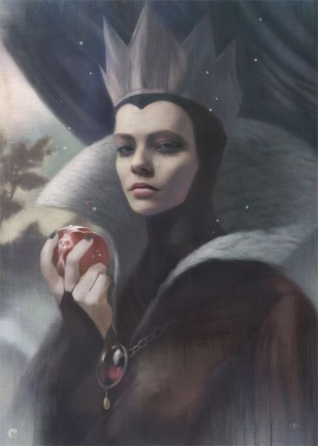 Artist Tom Bagshaw - Let's face it, even in the Disney version, the wicked queen really was more beautiful than Snow White. Just sayin...if I had my pick on who to look like...LOL!