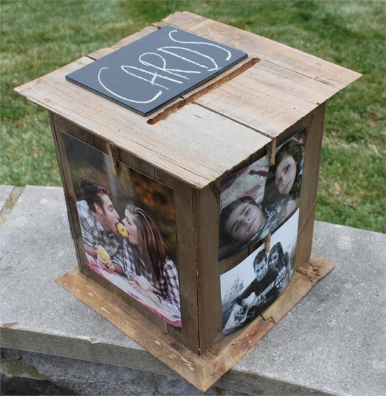 DIY+Graduation+Boxes | diy engagement pics card box or for a graduation open house
