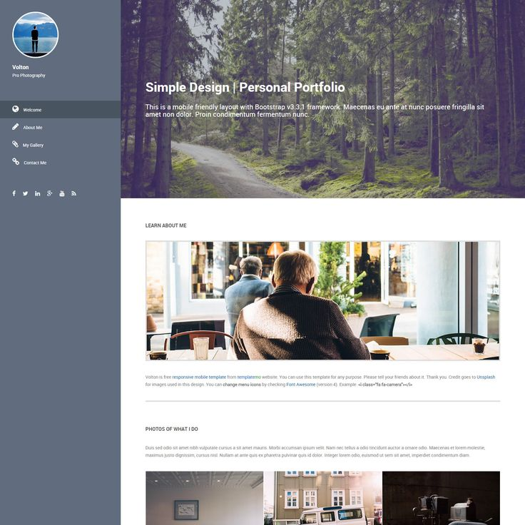 246 best html template images on pinterest design web for Html side menu bar template