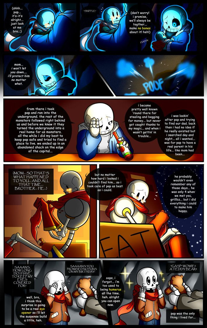 Reminiscence: Undertale Fan Comic Pg. 17 by Smudgeandfrank.deviantart.com on @DeviantArt