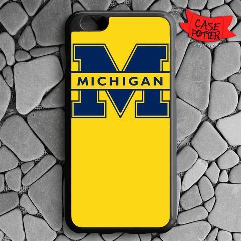 Yellow Michigan iPhone 6 Plus iPhone 6S Plus Black Case