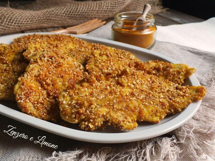 Questo pollo alla curcuma è un secondo sano, genuino e nutriente, reso molto appetitoso dalla particolare miscela utilizzata per la sua panatura.