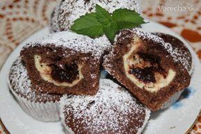 Hrnčekové muffiny s tvarohom a slivkovým lekvárom