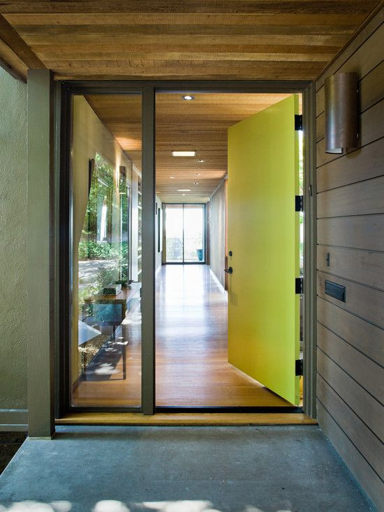 office entry doors. Modern Entry By Koch Architects Inc Get A Similar Look With These Colors Clockwise From Top Left All Glidden Lime Sorbet For The Front Door Office Doors