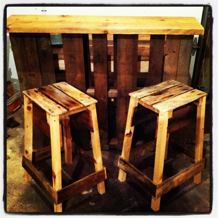 Pallet bar i just love these pallet and reclaimed for Stools made from pallets