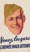 Affiche de recrutement de l'armée canadienne (1945).