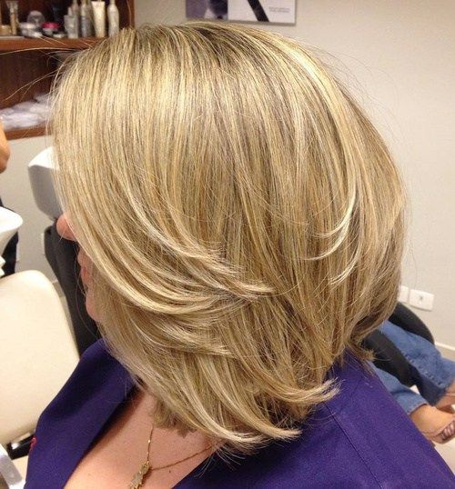 Long Layered Bob For Thick Hair | For more style inspiration visit 40plusstyle.com