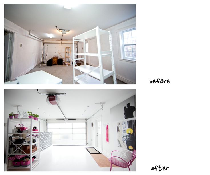 This studio is in a garage and she had her garage door made into a GLASS door! Tons of light! What a great idea!