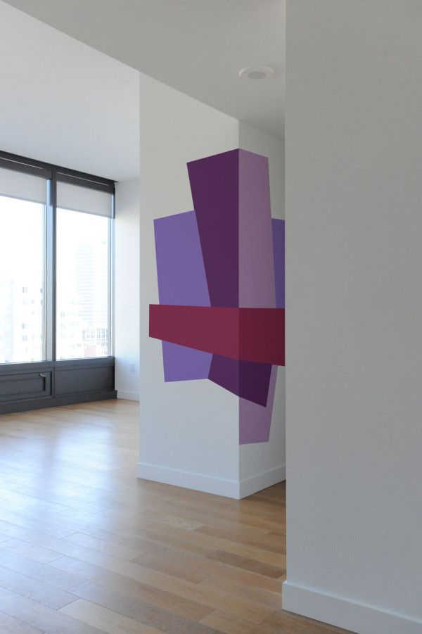 Color blocking wall decals by mina javid for blik color blocking design and home - Blik wall stickers ...