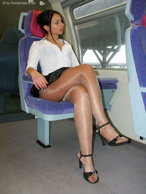 Nice bih air stewardess in pantyhose attractively! Would