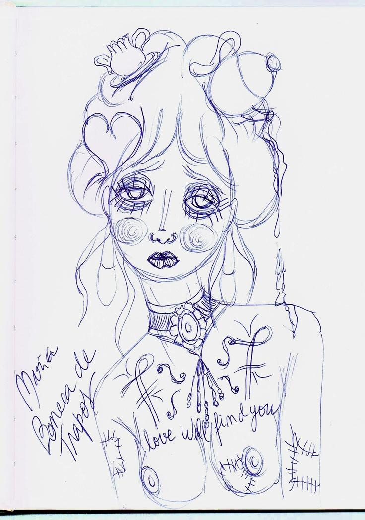 Maria de Trapos (sketch #2) - São Marias project - 2012, by Maria Oliveira.