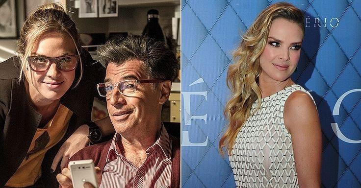"""Letícia Birkheuer interpreta a jornalista Érika, que trabalha com Téo Pereira (Paulo Betti). """"O tom de loiro bege está em alta e o corte em ..."""