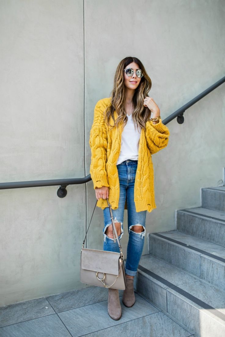 Best 25  Yellow cardigan outfits ideas on Pinterest | Yellow jeans ...