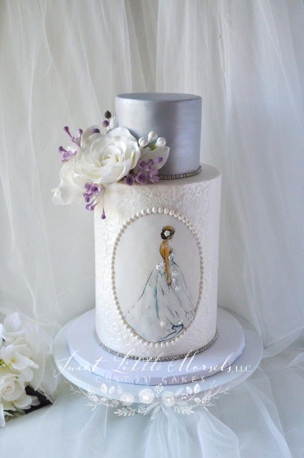 Bridal Shower Cake by Stephanie - http://cakesdecor.com/cakes/244925-bridal-shower-cake