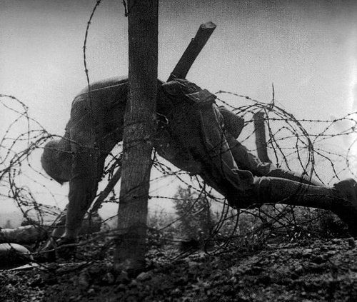The stutter of machine-guns, the sounds of the inferno of war, the cries of the dead & dying. The Angel of Death has swept over this ground...the last thoughts & breath of men who witnessed the beating of his wings, giving their lives in the faithful discharge of their soldierly duty far away from home