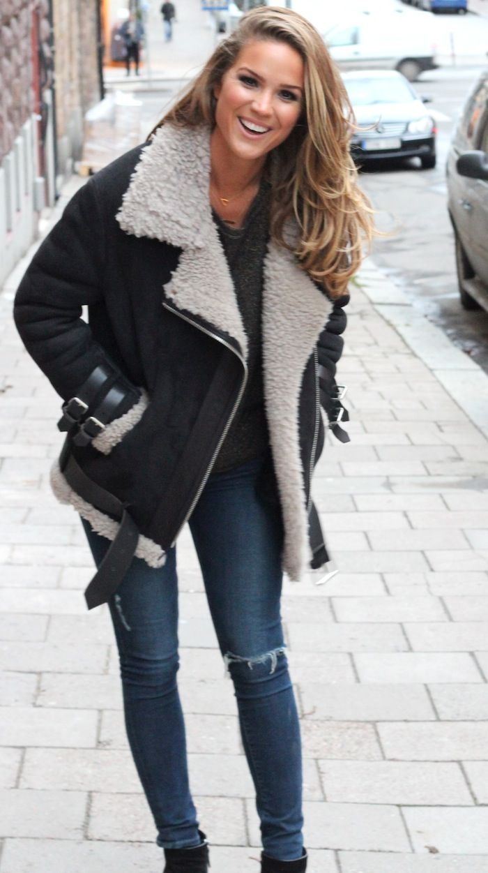 Best 25+ Shearling jacket ideas on Pinterest | Acne leather jacket ...