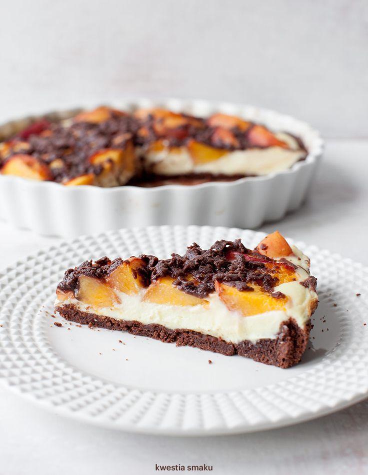 Tarta sernikowa z brzoskwiniami (spód)