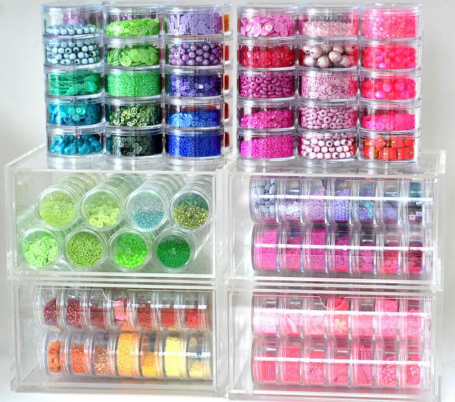 Beads and sequins stored! Great idea!