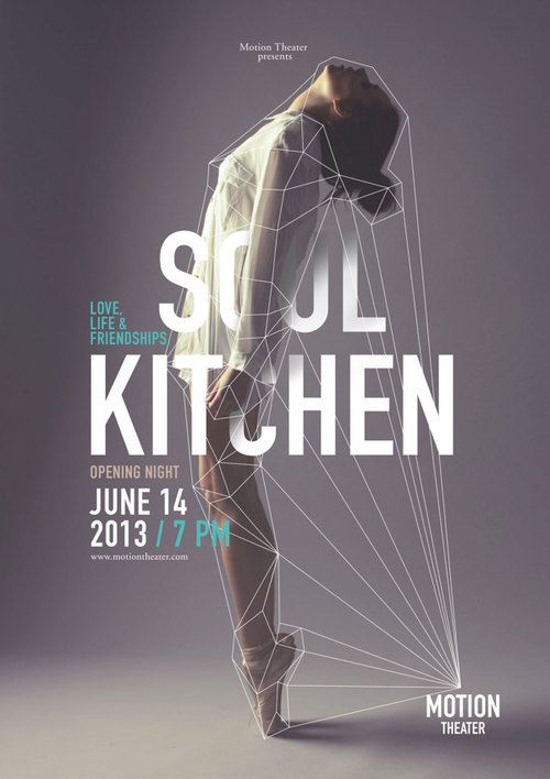 Absolutely stunning dance poster. Love the use of photography mingled with line and the type placement.